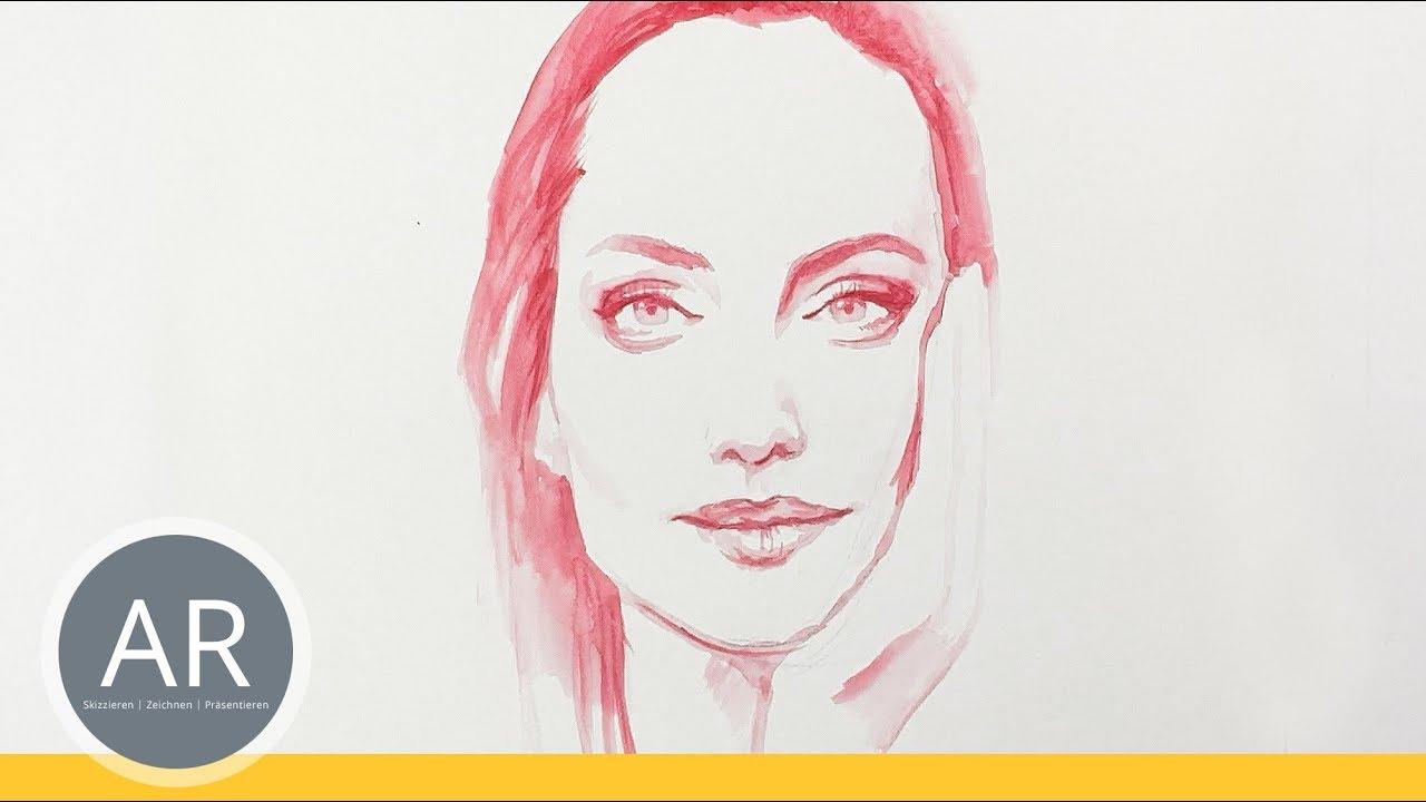 Aquarell Portraits Zeichnen Lernen Portrat Zeichnen Zeichenkurse