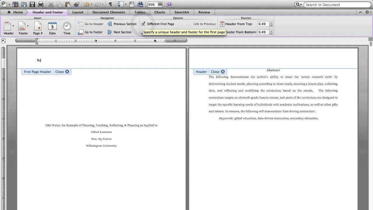 Running head: writing an apa report csun edu