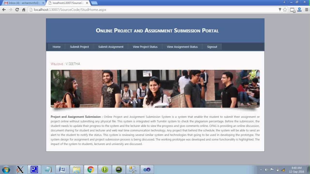 online project and assignment submission portal online project and assignment submission portal