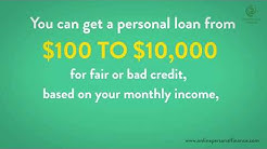 Bad Credit Personal Loans Guaranteed Approval Direct Lenders 2019