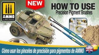 How to use AṀMO Precision Pigment Brushes / Cómo usar los pigmentos de precisión de AMMO.