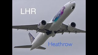 Plane Spotting *Afternoon Takeoffs* RW09R London Heathrow Airport ncl. Liveries, A380s..more ✈️