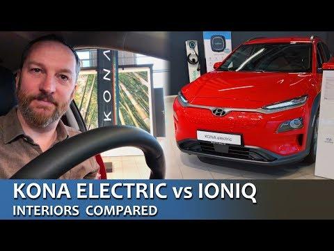 KONA Vs IONIQ Electric Interiors Compared
