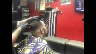 Black mask facial with hot towel steam shave   CORONA BARBERSHOP PLUS
