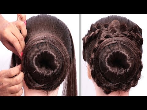 New Latest Bun Hairstyles Party/wedding | Trendy Hairstyles | Bun Updo Hairstyles | 2019