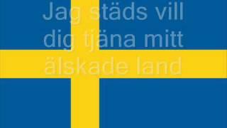 Repeat youtube video Svenska Nationalsången - Du Gamla Du Fria [Med Text]