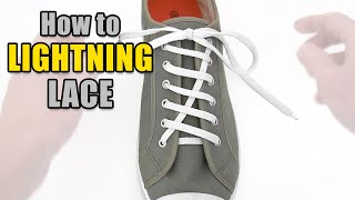How to Lightning Lace your shoes - Professor Shoelace