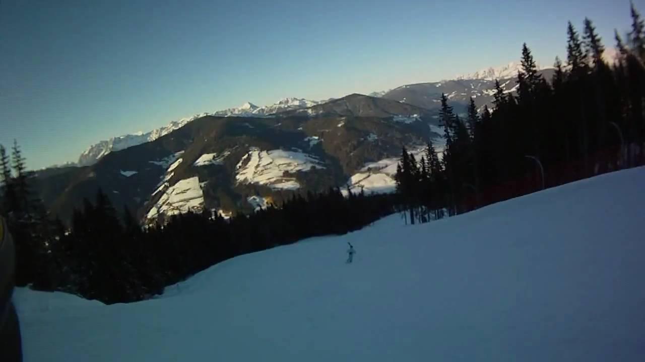Red Ski Slope Flachau Wagrain Vholdr Contour Hd Youtube