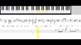 How to play Just the way you are by Bruno Mars piano cover tutorial with sheet music