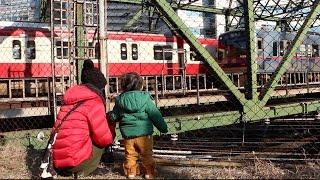 列車がたくさん通る品川の八ツ山橋に行ってきました