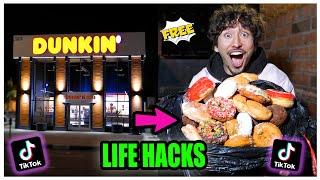 We TESTED Viral TikTok Life Hacks.... (DUMPSTER DIVE!!) *PART 17*