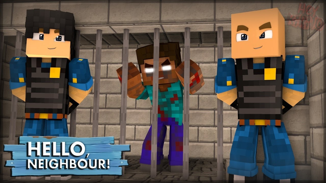O Herobrine Foi Preso Hello Neighbor 6 Minecraft