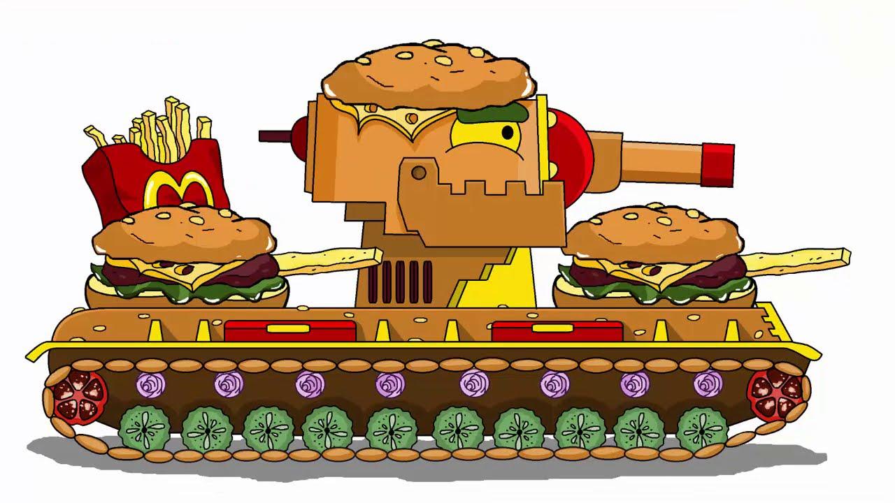 Как нарисовать танк McDonald's Кв 6  для Мультики про танки