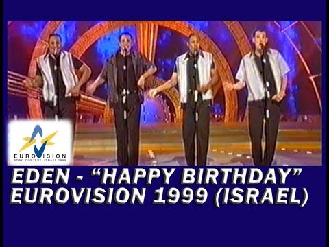 """Eden - """"Happy birthday"""" - Israel's entry at Eurovision Song Contest 1999 (HQ video)"""
