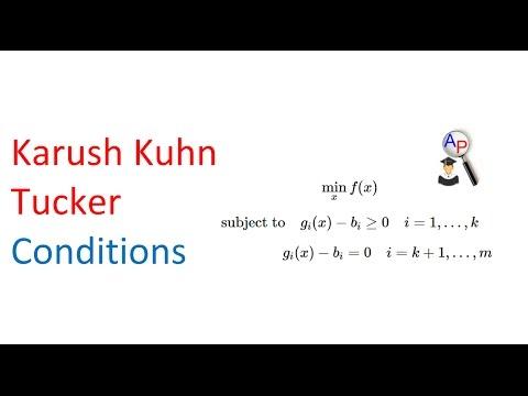 Karush Kuhn Tucker Conditions
