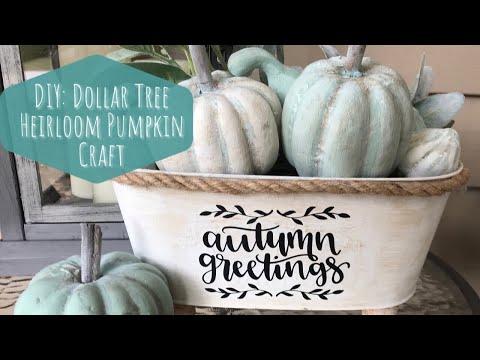 DIY: Dollar Tree Heirloom Pumpkin Craft