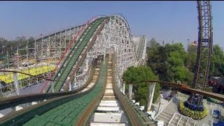 Montaña Rusa Wooden Roller Coaster Pov Both Sides La Feria