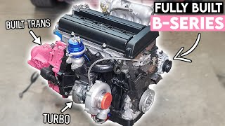 homepage tile video photo for FULLY BUILT B18B1 Gets Its TURBO KIT & BUILT TRANSMISSION!