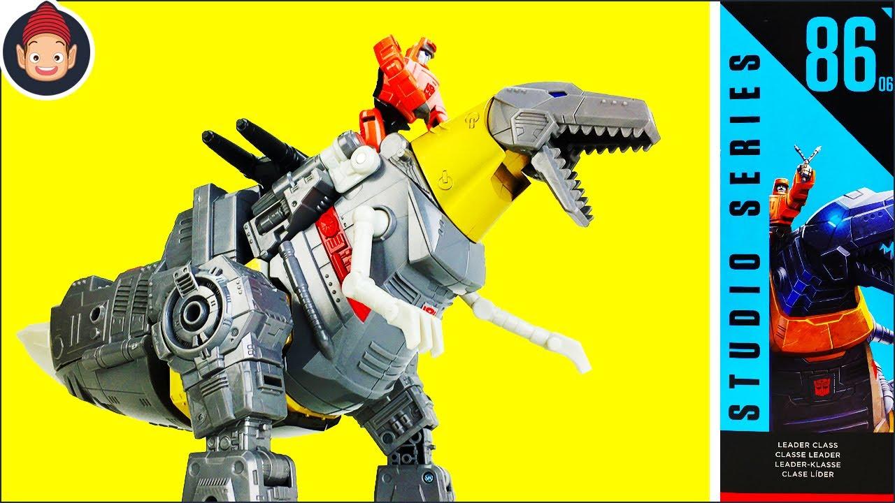 How to Transform Transformers Studio Series 86 Dinobot Grimlock & Autobot Wheelie Figures