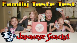 JAPANESE CANDY TASTE TEST!!! Japan Crate Snack Box Surprise!
