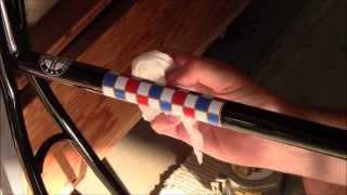 Schwinn Vintage White Decal Water Application 2