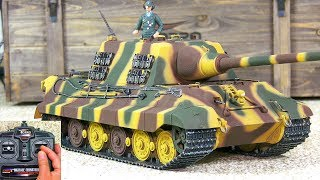 UNBOXING! RC SCALE MODEL RTR TANK HUNTING TIGER TORRO IR PRO-EDITION! *FIRST OUDOOR TEST