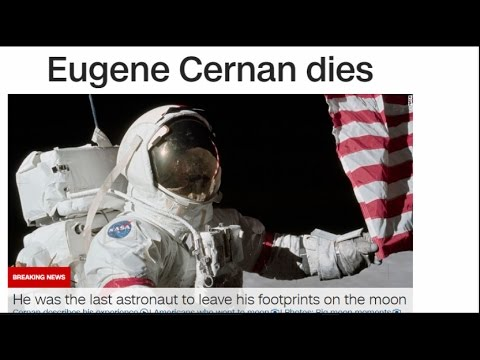 Death of Eugene Cernan and Neil Armstrong-First and Last Men to Walk on Moon(AlphaOmega)