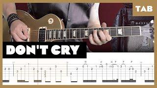 Don't Cry Guns N' Roses Cover | Guitar Tab | Lesson | Tutorial