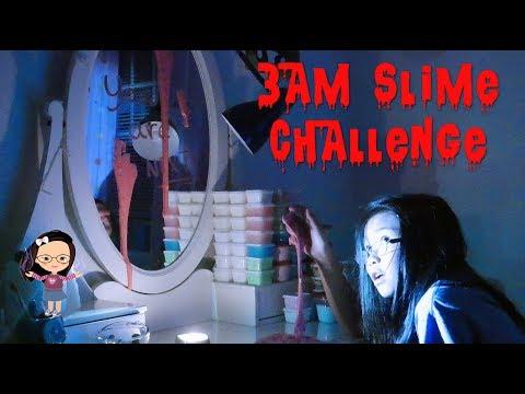 DO NOT MAKE MAKE SLIME AT 3AM | DON'T TRY IT!!! (((WARNING))) 😱😨😱