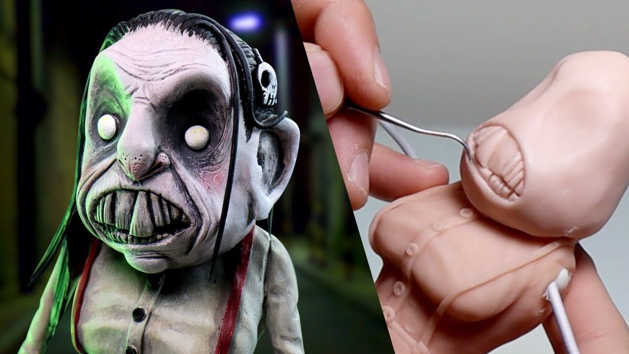 Making Up MY OWN Nightmare Character - The Ice Cream Man's SISTER, Murda! - Polymer Clay Tutorial