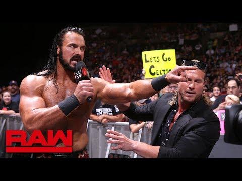 Drew McIntyre challenges Seth Rollins: Raw, July 9, 2018