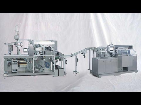 high speed liquid sachet filling bagging machine integrated with cartoning HFFS Cartoner 液體袋裝裝盒包裝連線