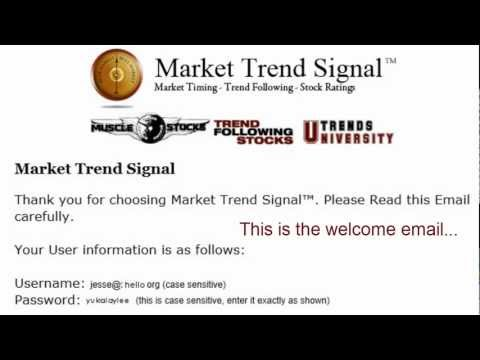 Market Trend Signal - How to Login