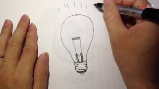 Thomas Edison Lightbulb - How to draw cartoon Lightbulb