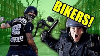 COPS VS BIKERS!!