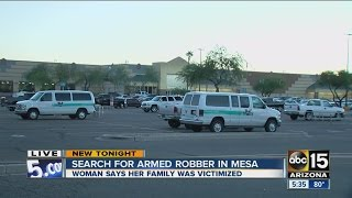Search for armed robber in Mesa after several victimized