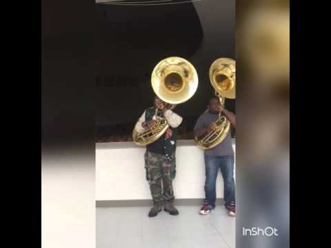Ahs tubas playin around with little einstiens