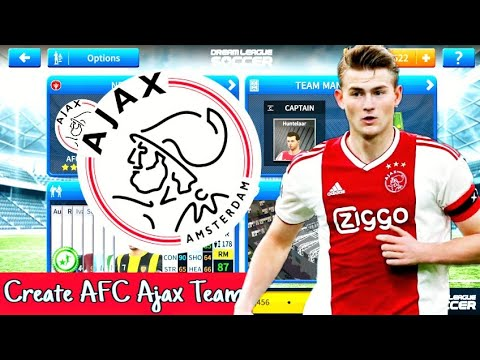 How To Create AFC Ajax Team in Dream League Soccer 2019 | Android [No Root & No Mod Apk]