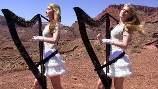 SCORPIONS - Send Me An Angel - Harp Twins (Camille and Kennerly) HARP ROCK/METAL thumbnail