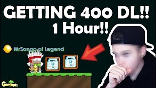 GETTING 400DL in 1HOURS!! HOW?? OMG!! | GrowTopia