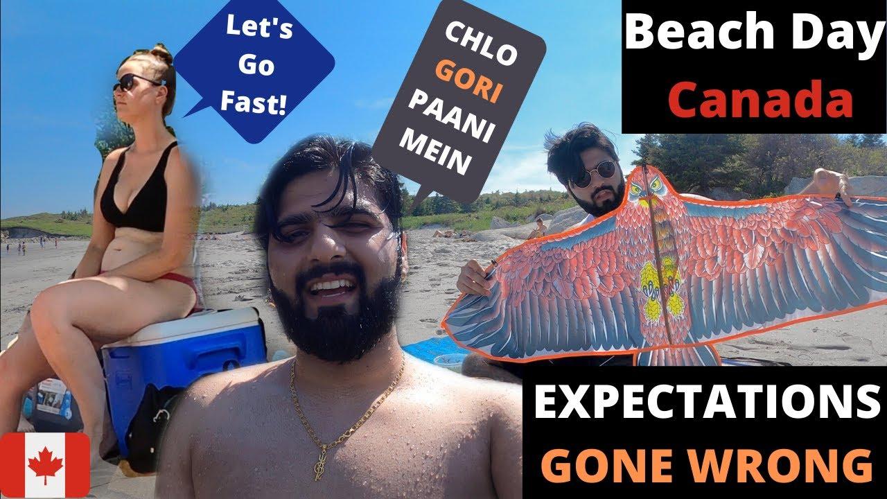 I FAILED TO FLY HER | Beach Vlog Canada