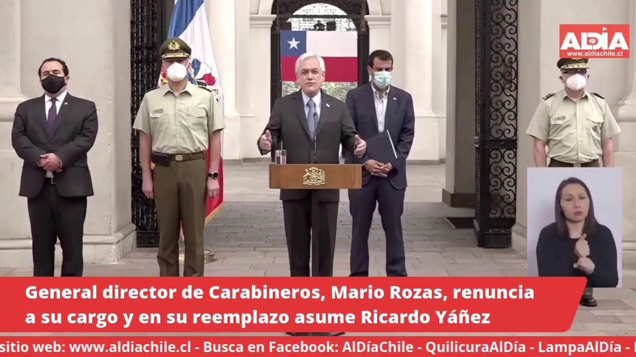General director de Carabineros, Mario Rozas, renuncia a su cargo. Lo reemplazará Ricardo Yáñez