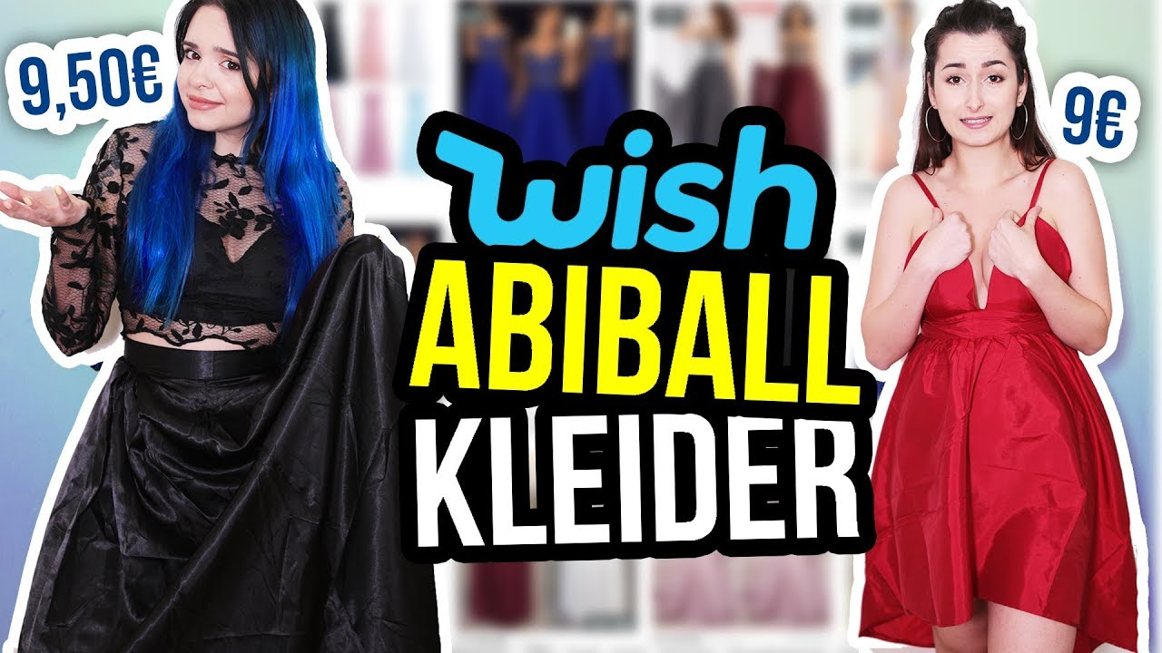 wir testen billige abiballkleider von wish 😱💸 | unlikely ❤