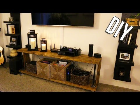 IT'S DONE! | DIY TV STAND | HOMEMADE 📺 🔨