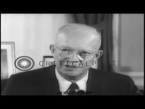 U S  President Eisenhower speak about U S  interven
