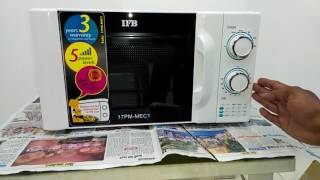 How to use IFB MICROWAVE 17 PM-MEC 1  full demo & reviews   step by step  
