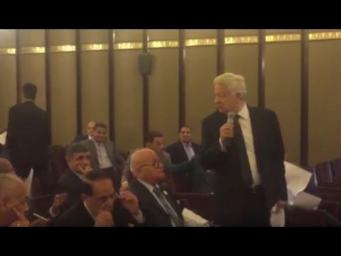 نائب يحرج مرتضى منصور عمرك ما كنت مستشار جبتها منين دي بالكوسة و رد فعل مرتضى