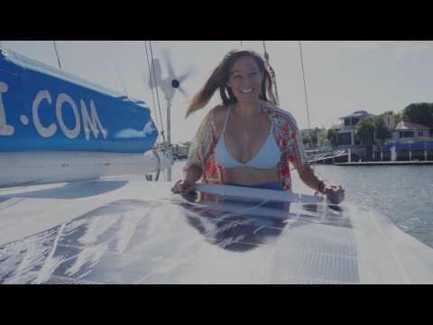 Installing Solbian flexible solar panels - Sailing Nandji, Ep 32
