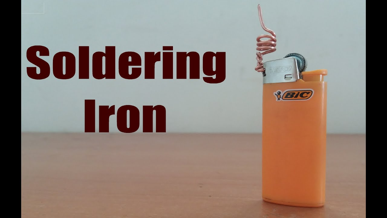 How to make soldering iron with lighter diy youtube solutioingenieria