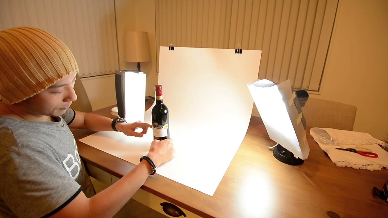 How to set up a diy desktop product photography table youtube solutioingenieria Images